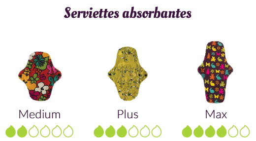 serviettes absorbantes